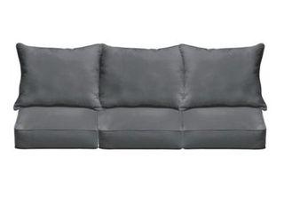 Single Morgantown Charcoal Indoor  Outdoor Corded Sofa Cushion