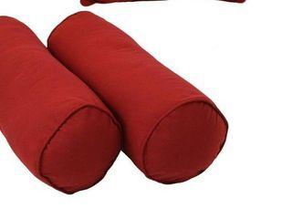 Blazing Needles red Bolster pillows