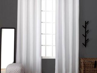 Set of 2  63 x52  loha linen Grommet Top light Filtering Curtain Panel White   Exclusive Home