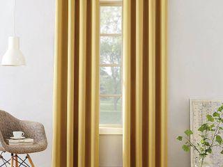 84 x54  Seymour Grommet Top Room Darkening Window Curtain Panels Yellow   Sun Zero