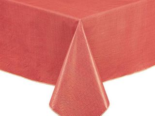 lintex Caf Deauville 100  vinyl Tablecloth 60 X84  in Red