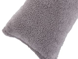 Body Pillow Cover  Sherpa with side zipper by lavish Home IJ 18 IJx52  Grey