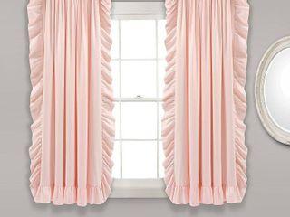 Reyna Window Curtain Panels Blush Pink 54x63 Set