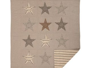 Sawyer Mill Star Charcoal Quilted Throw 60x50  Retail 77 48