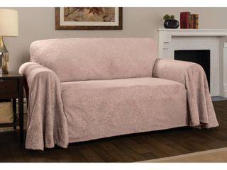 70 x 170  P Kaufmann Home Plush Damask Throw Sofa Slipcover