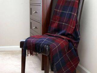 50 x 60  lavish Home Throw Blanket  Cashmere like  Blue Red