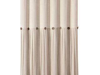 lush Decor linen Button Shower Curtain Dark linen Single 72X72