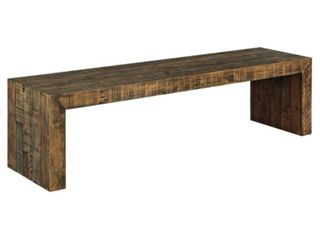Signature Design by Ashley 65  Sommerford Wood Dining Bench  Brown Finish Retail    197 49