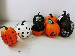 lot of 8 Faux Pumpkin Boo on Orange   Bullseye s Playground