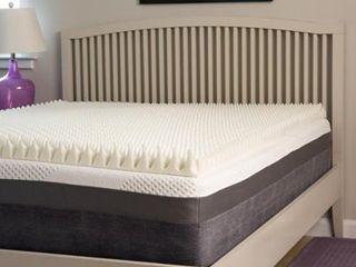 Slumber Perfect Highloft Supreme 4 inch Convoluted Memory Foam Topper  Full   Retail 89 99