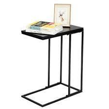 Snack Side Table C Shaped End Table for Sofa Couch and Bed