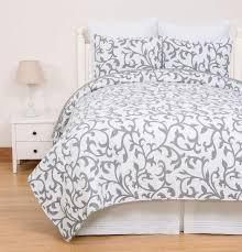 Serendipity Grey Cotton 3 Piece Quilt Set   Twin 2 Piece  Retail 91 49