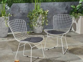Tyson Outdoor Chairs  Set of 2  by Christopher Knight Home   24 50 D x 21 00 Wx 31 25 H  Retail 174 49