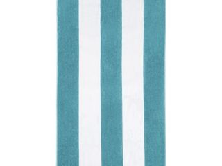 set of 2 Niantic 100  Cotton Oversize Cabana Terry Beach Towel by Impressions