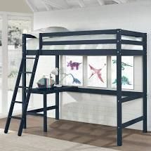 INCOMPlETE Caspian Full loft Bed and Desk  Retail 539 99