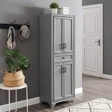 Tara Pantry Vintage gray   23 75 W x 15 D x 67 75 H  Retail 382 99