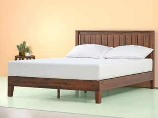 Zinus Vivek Wood Platform Bed W  Headboard No Box Spring Needed Slat Support Antique