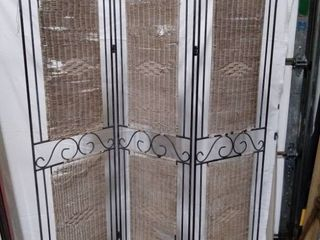 vintage wrought iron room divider