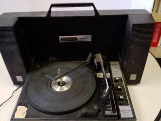 vintage Emerson Wildcat portable record player stereo phonograph