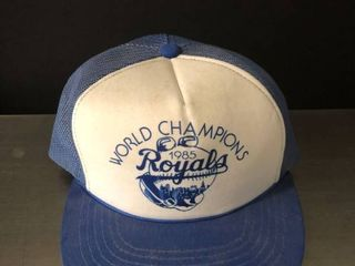 1985 Royals World Champions Blue and White Hat
