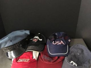 lot of 6 Sports Hats