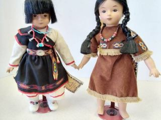 Native American girl dolls 13 inches
