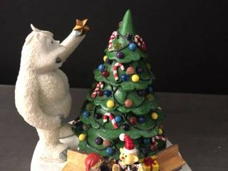 Bumble and Christmas Town Tree from Rudolphas Christmas Town Figurine Batteries and Certificate of Authentication Included
