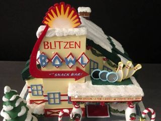 Blizten Bowl and Snack Shop from Rudolphas Christmas Town with light and Certificate of Authentication
