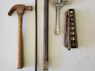lot of 5 Handy Man Tools   lock   Nut  Wrench  Socket Sets  Hammer  Hay Pick