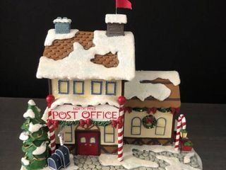 North Pole Post Office from Rudolphas Christmas Town with light and Certificate of Authentication