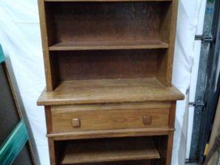 vintage wood Hutch