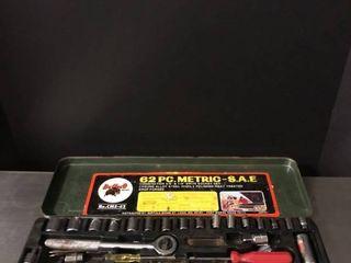 Buffalo Brand 62 Piece Drive Socket Set