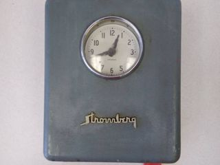 Vintage Stromberg Employee Time In and Out Punch Clock