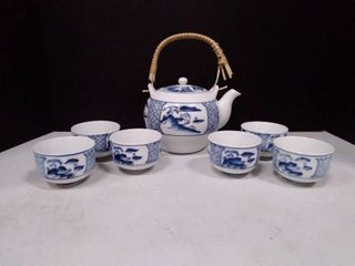 Vintage Porcelain Chinese Tea Set