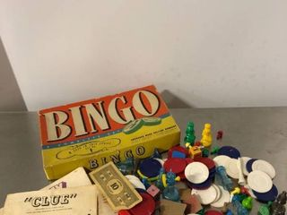 Various Vintage Game board Playing Pieces