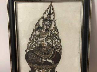 Framed Depiction of Buddhist God