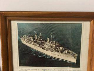 Framed Photo of USS Vector Air 7