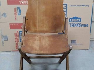 vintage US American seating company wooden folding chair