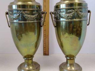 Vintage metal vases