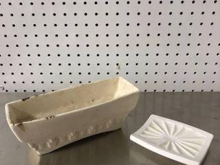 Hager Ceramic Planter and Soap Dish
