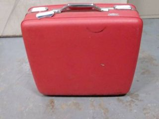 American tourister red suitcase hard shell