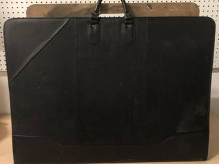 Black leather Portfolio with Drawing Board and Paper
