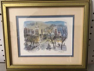 Framed Hand Painted Painting by J R Hamil