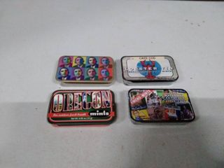 lot of Mint tins with mints