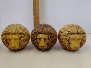 Vintage Jaru Double Sided lion Heads Figurines paperweights