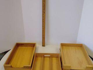 Vintage office wood desktop organizers