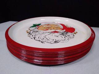 lot of 11 Christmas platters