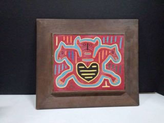 quilted framed tribal decor