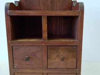 Wood wall hanging shelf  box  with small drawers