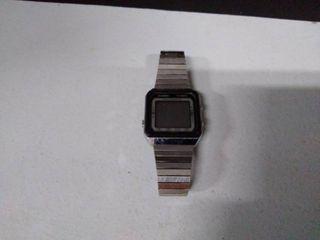 Silver digital watch